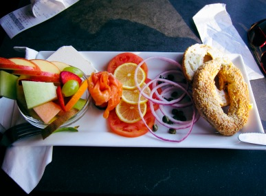 Salmon Bagel at Café Art Java