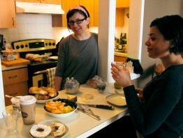 Breakfast with Marie-Ève and Sophie